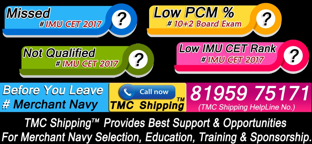 TMC Shipping Merchant Navy Admission Notifications 2017-2018